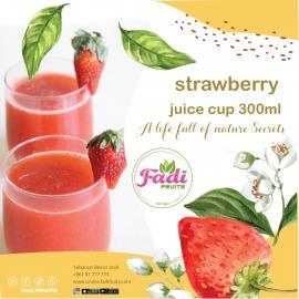 strawberry juice cup 300ml